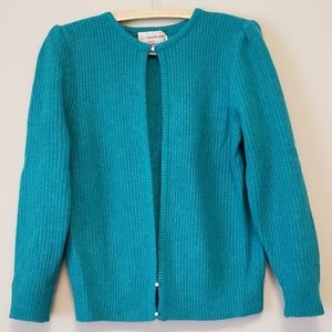 Lambswool and Angora Cardigan